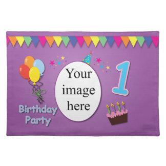 Ęr tapis d'endroit heureux d'anniversaire sets de table