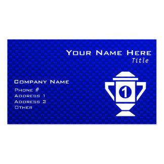 Ęr trophée d'endroit de bleu carte de visite standard