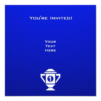 Ęr trophée d'endroit de bleu carton d'invitation  13,33 cm