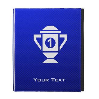 Ęr trophée d'endroit de bleu coque folio iPad
