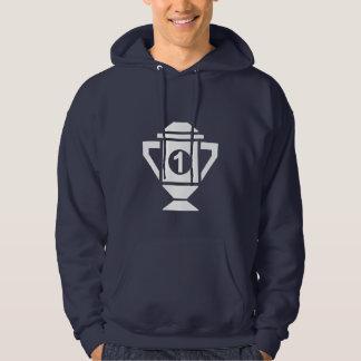 Ęr trophée d'endroit de bleu sweatshirt à capuche