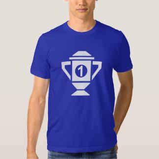 Ęr trophée d'endroit de bleu tee shirt