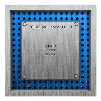 ęr trophée d'endroit de Métal-regard Carton D'invitation 13,33 Cm