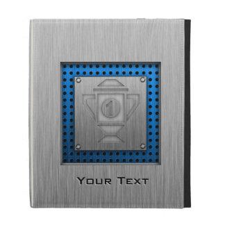 ęr trophée d'endroit de Métal-regard Étui iPad Folio