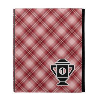 Ęr trophée d'endroit de plaid rouge coque folio iPad