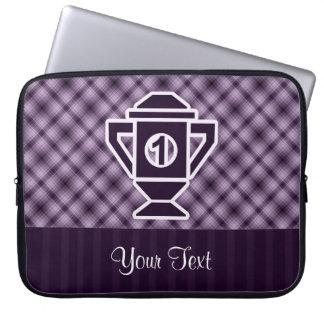 Ęr trophée d'endroit de pourpre housses pour ordinateur portable