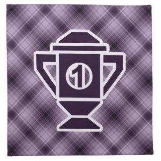 Ęr trophée d'endroit de pourpre serviette