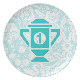 Ęr trophée d'endroit de Teal Assiette