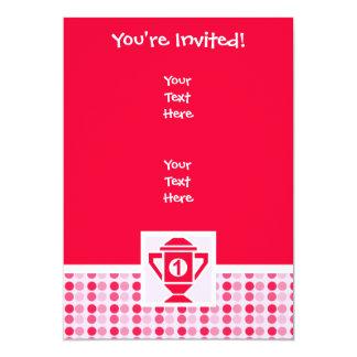 Ęr trophée mignon d'endroit carton d'invitation  12,7 cm x 17,78 cm