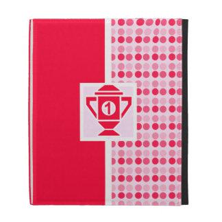 Ęr trophée mignon d'endroit coque folio iPad