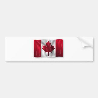 Érable canadien de feuille d'emblème de pays de autocollant de voiture