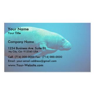 Éraflure de lamantin modèles de cartes de visite