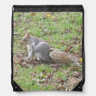 Éraflure mignonne d'écureuil sac à dos