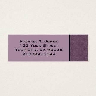 éraflure moderne mini carte de visite
