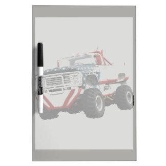 Erasable table Dry Monster Truck Dry Erase Board
