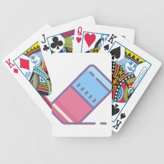 Eraser Bicycle Playing Cards