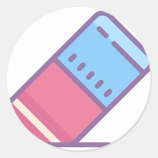Eraser Classic Round Sticker