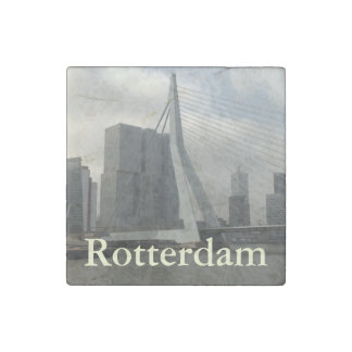 Erasmus Bridge, Rotterdam Stone Magnets
