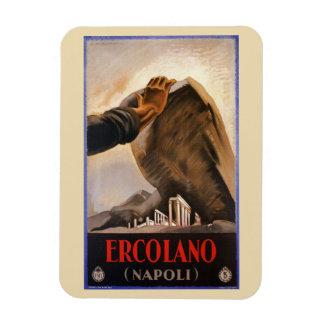 Ercolano Naples Italian art deco travel ad Magnet