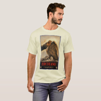 Ercolano Naples Italian art deco travel ad T-Shirt