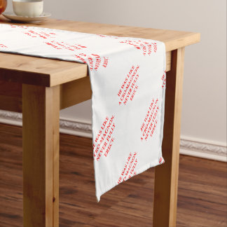 ERECT SHORT TABLE RUNNER