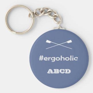 Ergoholic hashtag slogan personalised initials keychain