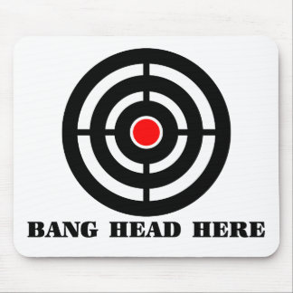 Ergonomic Stress Relief: Bang Head Here Mouse Pad