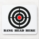 Ergonomic Stress Relief: Bang Head Here Mouse Pads