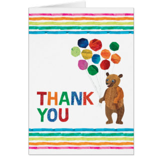 Eric Carle   Beary Girl Birthday - Thank You Card