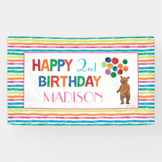 Eric Carle | Beary Girl Striped Birthday Banner