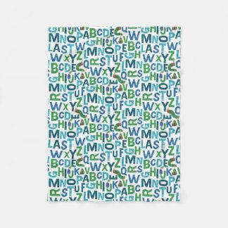 Eric Carle   Blue & Green Alphabet Pattern Fleece Blanket