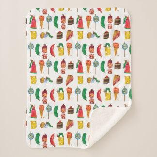 Eric Carle | Caterpillar and Food Pattern Sherpa Blanket