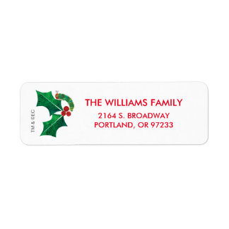 Eric Carle | Christmas Caterpillar Return Address Label