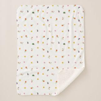 Eric Carle | Flower Garden Pattern Sherpa Blanket
