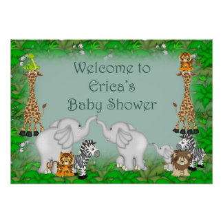 Erica s Jungle Baby Shower Posters