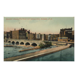 Erie Canal Aqueduct in Downtown Rochester NY Poster