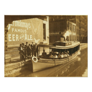 Erie Canal at Exchange St in downtonw Rochester NY Poster