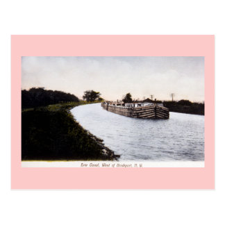 Erie Canal, West of Broadport, New York Postcard