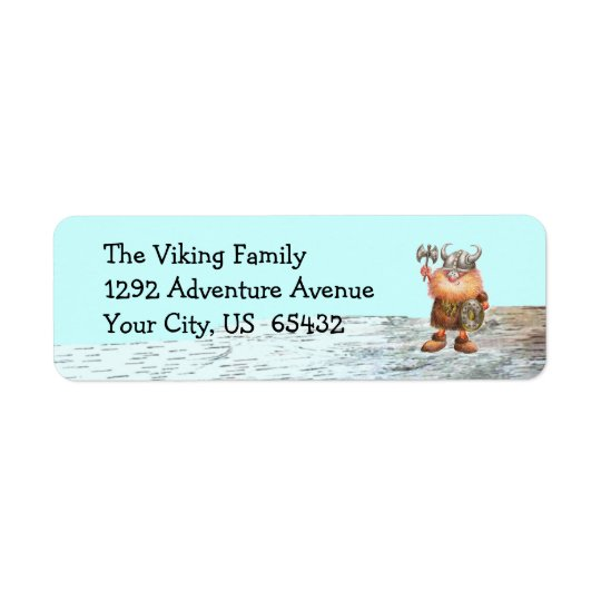 Erik The Viking Return Address Label