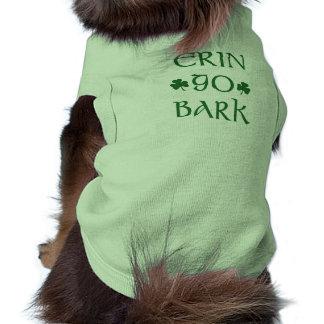 Erin Go Bark Irish St. Patrick's day dog shirt