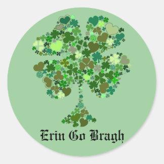 Erin Go Bragh Four Leaf Clover Sticker