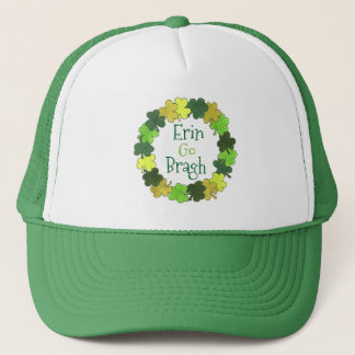 Erin Go Bragh Ireland Forever Green Shamrock Hat