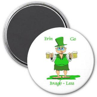 Erin Go Bragh-Less Gladys 3 Inch Round Magnet