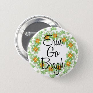 Erin Go Bragh Shamrock Buttons