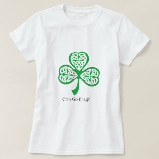 Erin Go Bragh shamrock with celtic knotwork T-Shirt