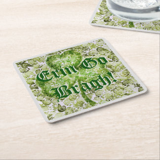 Erin Go Bragh! Square Paper Coaster