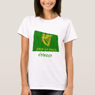 Erin Go Bragh Waving Flag with Name T-Shirt