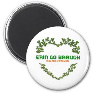 Erin Go Braugh Ireland Forever 2 Inch Round Magnet