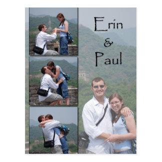 Erin & Paul - Save the Date Postcard