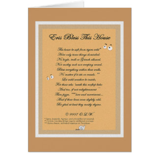 Eris House Blessing Card